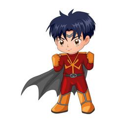 chibi style a superhero vector image