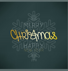 christmas new year winter holiday poster design t vector image