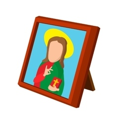 Church icon depicting St cartoon icon vector