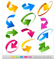 Collection colour arrows vector