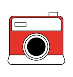 Color silhouette image cartoon analog camera vector