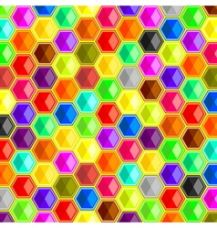 colorful hexagons background vector image