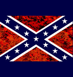 Confederate flag over fire vector
