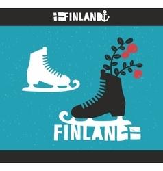 Creative Finnish label vector