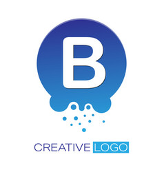 Creative logo letter b on a round dot vector