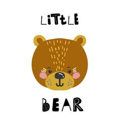 cute cartoon little animal childish print vector image