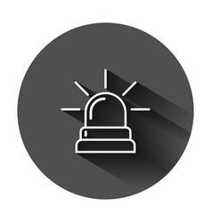 Emergency siren icon in flat style police alarm vector