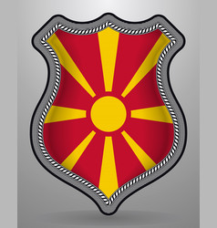 Flag of macedonia badge and icon vector