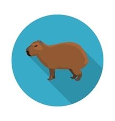 Flat icon a capybara vector