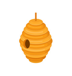 flat icon of hanging beehive house of bees vector image