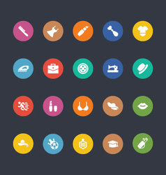 Glyphs Colored Icons 45 vector