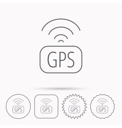 GPS navigation icon Map positioning sign vector image