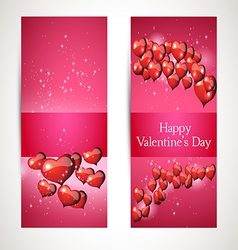 greetings in the heart for Valentines Day vector image