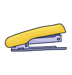 Handdrawn stapler doodle icon hand drawn sign vector