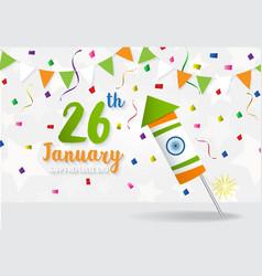 Happy Indian Republic Day celebration vector