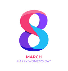 international women s day poster 8 march 3d vector image