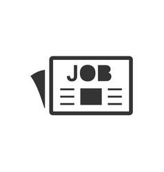 Job advertisement icon vector