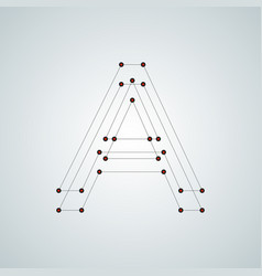 Letter a abstract design with connected dots and vector