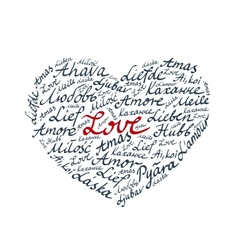 Lettering Heart Valentines Card vector image