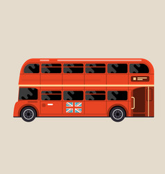london red bus - double-decker bus side view vector image