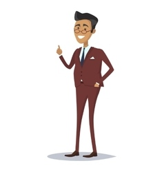 Man Character in Business Suit vector image