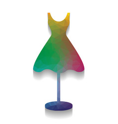mannequin with dress sign colorful icon vector image