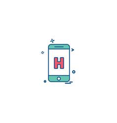 mobile medical hospital app icon design vector image