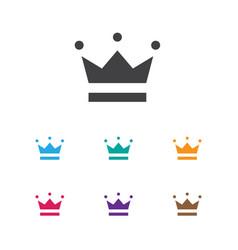 Of gambling symbol on crown vector