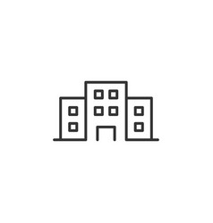 office building sign icon in flat style apartment vector image