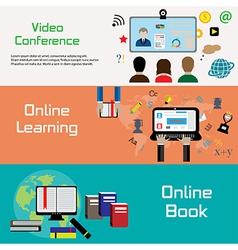 Online banners vector