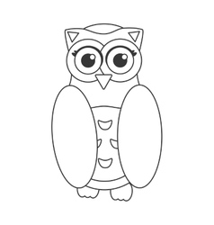 Owl bird flat icon wisdom symbol vector