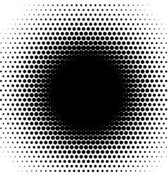 radial halftone pattern circles fade round matrix vector image