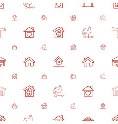 roof icons pattern seamless white background vector image