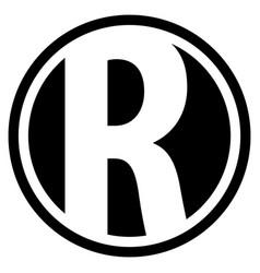 Round r logo vector