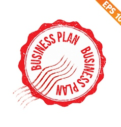 Rubber stamp business plan - - EPS10 vector image