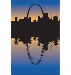 Saint Louis Missouri silhouette vector