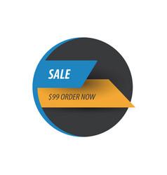 Sale discount design blue yellow black vector