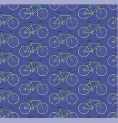 seamless pattern green bikes vector image