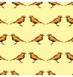 Seamless pattern with geometric birds vector