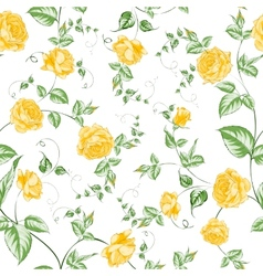 seamless texture orange roses for textiles vector image