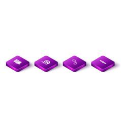 Set isometric condoms in package film reel vector