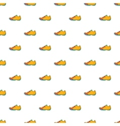 Sneakers for tennis pattern cartoon style vector