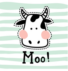 Stitched moo vector