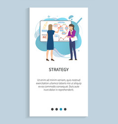 strategy woman on presentation startup planning vector image