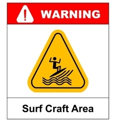 surfing zone graphic design vector image