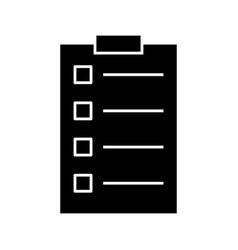 tasks glyph black icon vector image