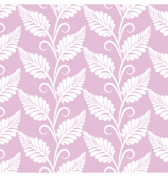 Vinatge leaves seamless pattern vector