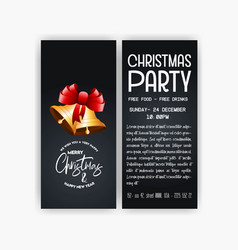 Vintage christmas party flyer template vector