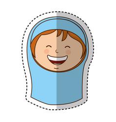 virgin mary manger character vector image