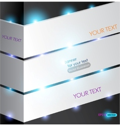 White abstract panel for text with lighting vector